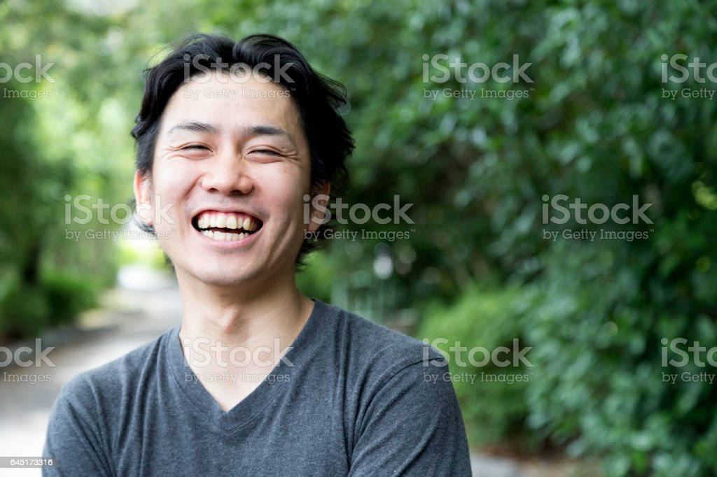 I am always happy! stock photo
