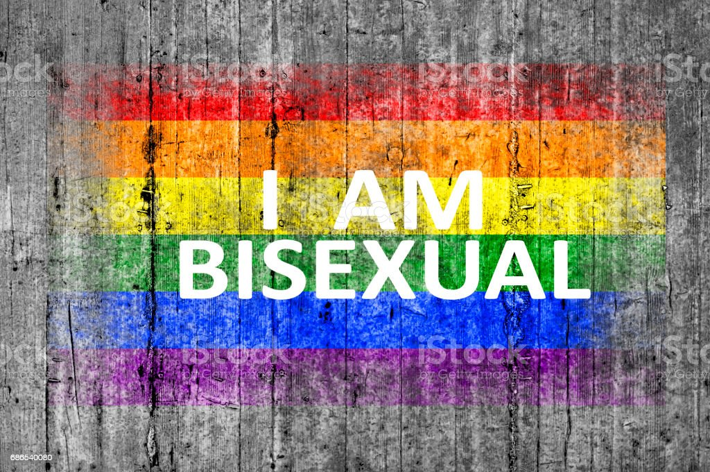 I am BISEXUAL and LGBT flag painted foto stock royalty-free