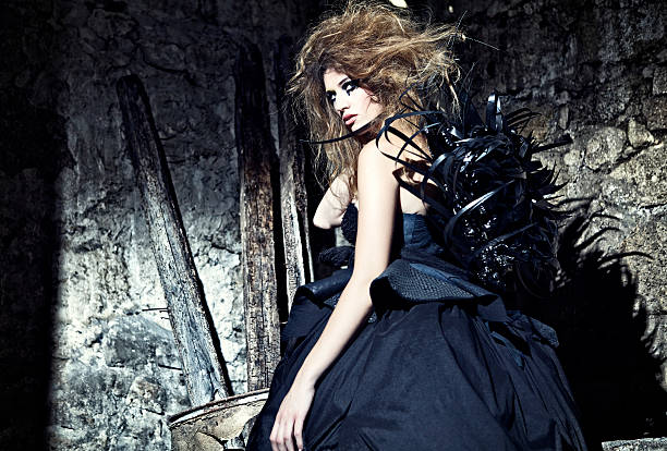 i am black - gothic fashion stock photos and pictures
