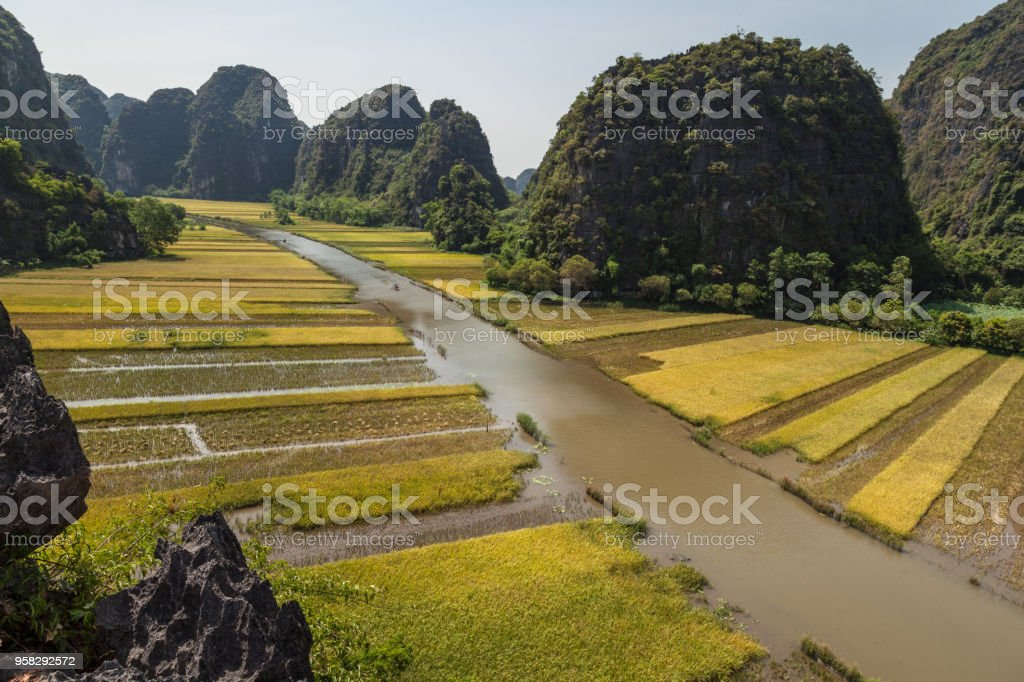 am Coc (Ninh Binh) is part of Trang An tourist complex, a world heritage site. stock photo