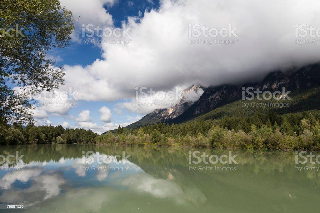 Am Fluss Gail bei Arnoldstein stock photo