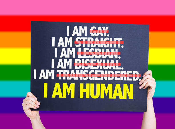 I am Gay/Straight/Lesbian/Bisexual/Trans I am Human card I am Gay/Straight/Lesbian/Bisexual/Trans I am Human lgbtqi rights stock pictures, royalty-free photos & images