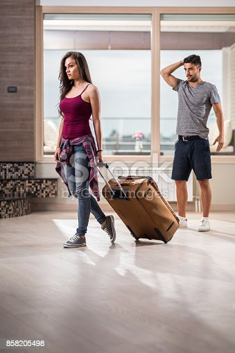 istock I am leaving you! 858205498