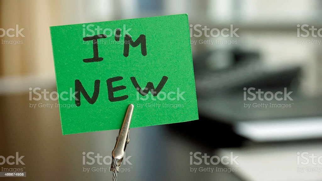 I am new stock photo