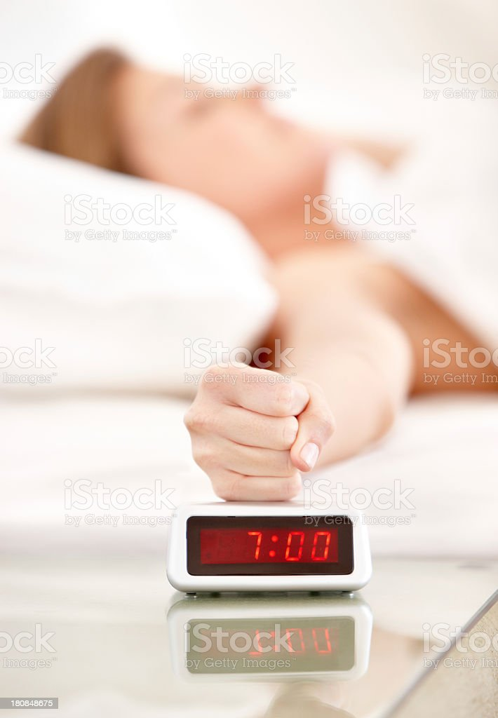 I am not a morning person! stock photo