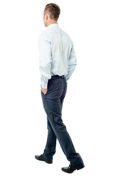 I am off to work. Stylish businessman. stock photo