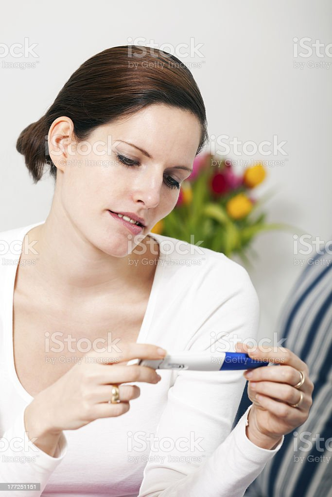 I am or i´m not pregnant ??? royalty-free stock photo