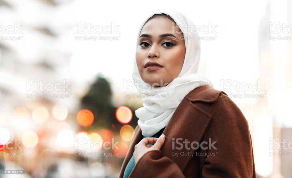 Ik ben er trots op moslim te zijn - Royalty-free 20-29 jaar Stockfoto