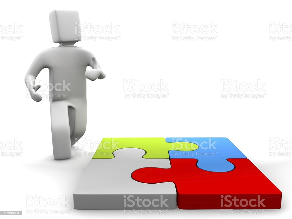 I am puzzeled royalty free stockfoto