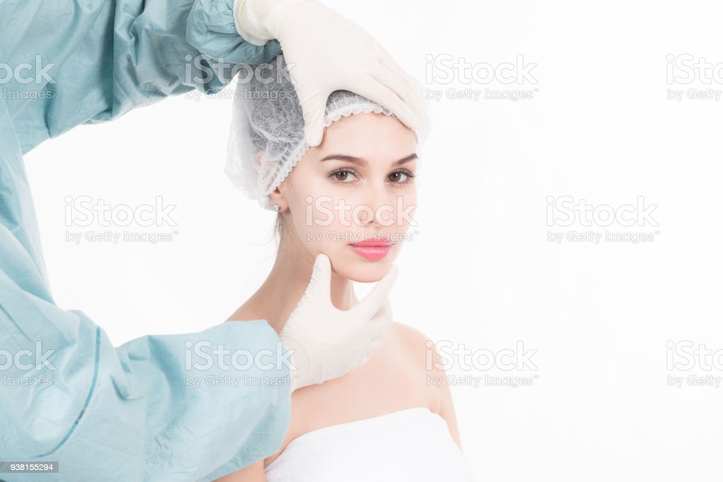 I am ready for my plastic surgery stock photo