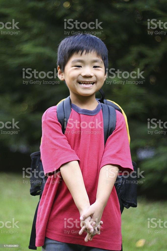 I am ready for school! royalty-free stock photo