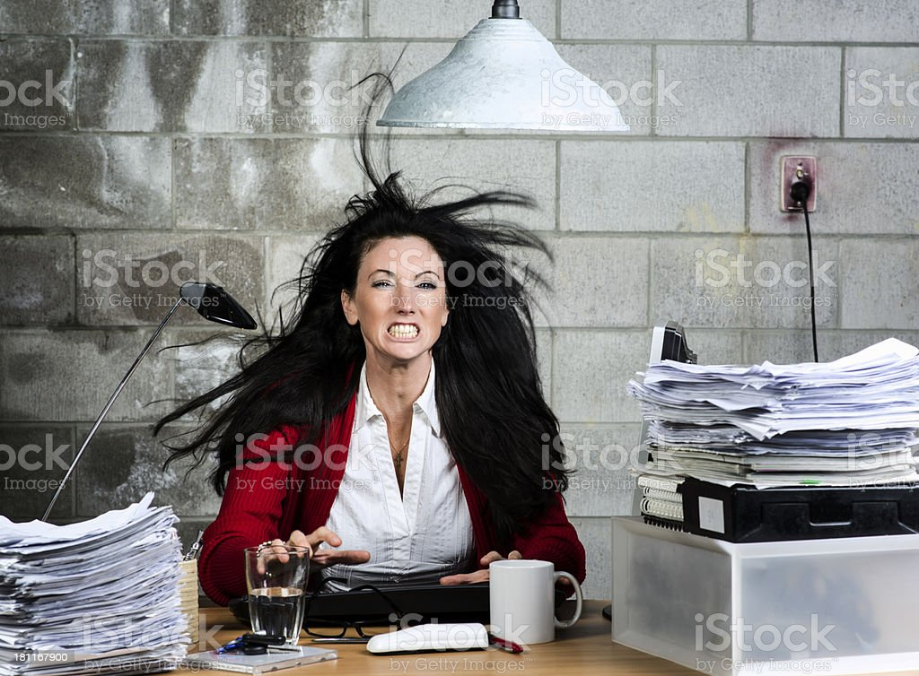 I am so angry royalty-free stock photo