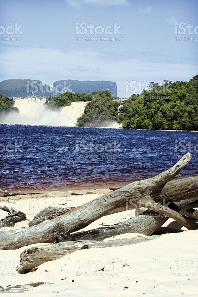 Am Strand von Canaima royalty-free stock photo
