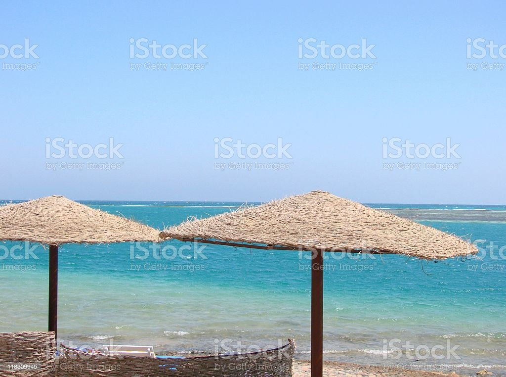 Am Strand von Hurghada stock photo