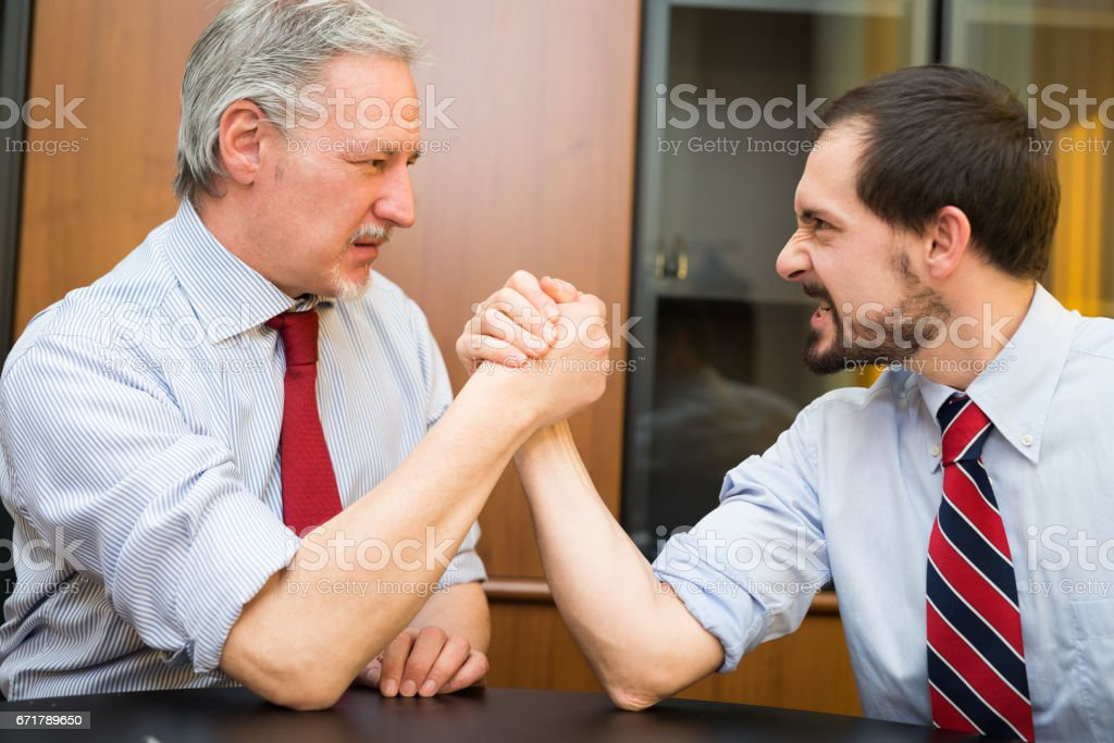 I am stronger than you stock photo