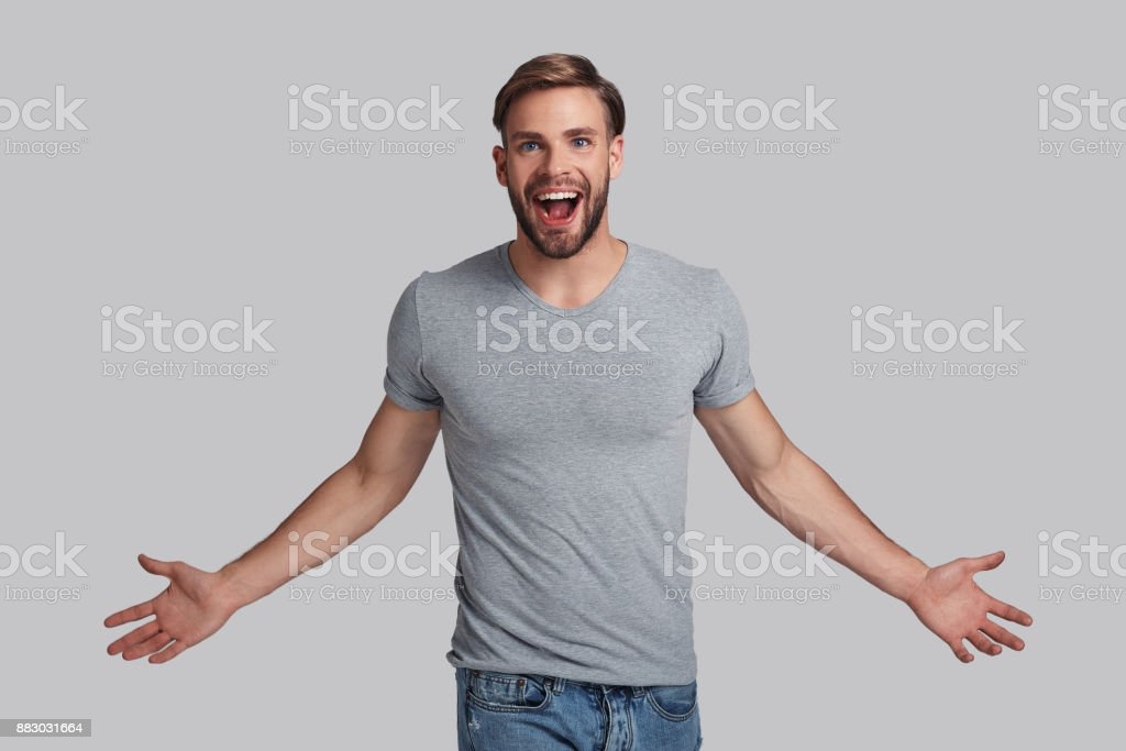 I am the champion! stock photo