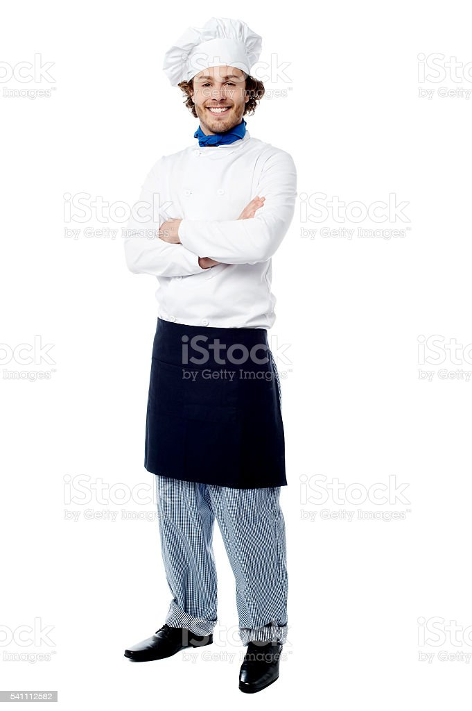 I am the executive chef here. stock photo