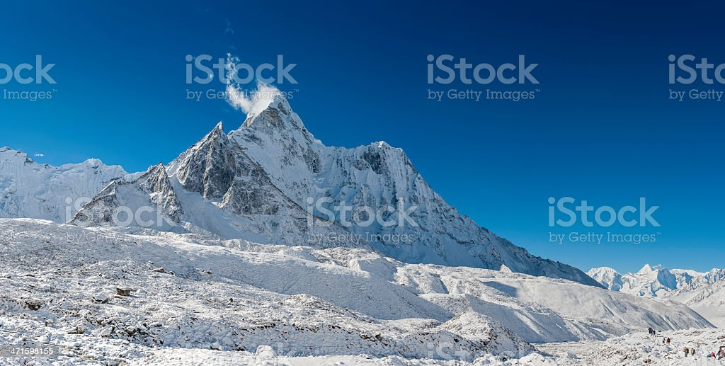 Ama Dablam 6812m iconic Himalaya mountain peak royalty-free stock photo