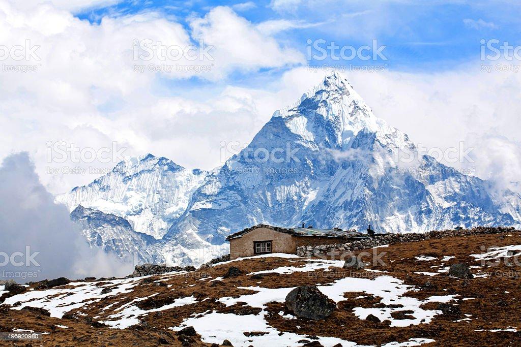 Ama Dablam Mount, Nepal stock photo