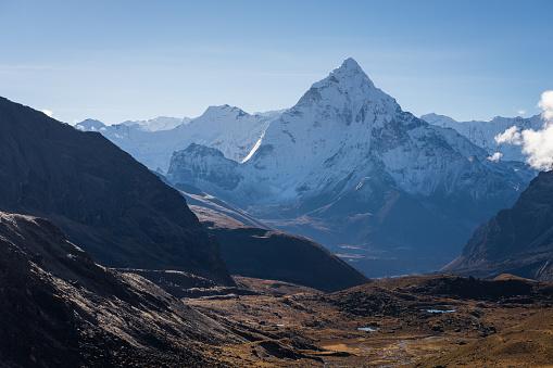 Ama Dablam Bergstopp I Everest Regionen View Från Chola Passera Everest Regionen Nepal-foton och fler bilder på Ama Dablam