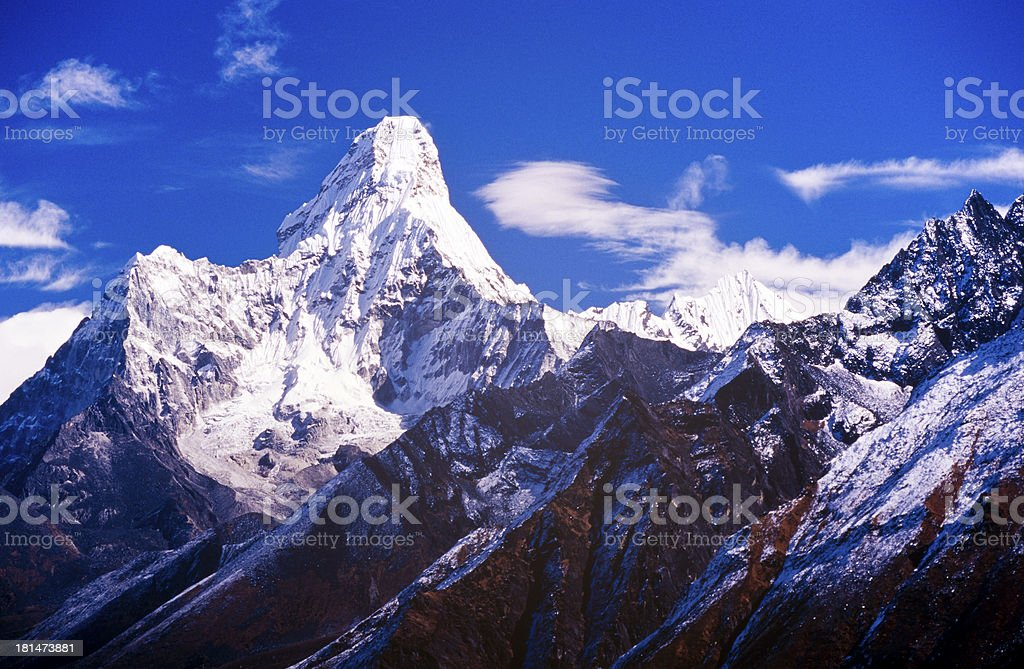 Ama Dablam, Nepal Himalaya royalty-free stock photo