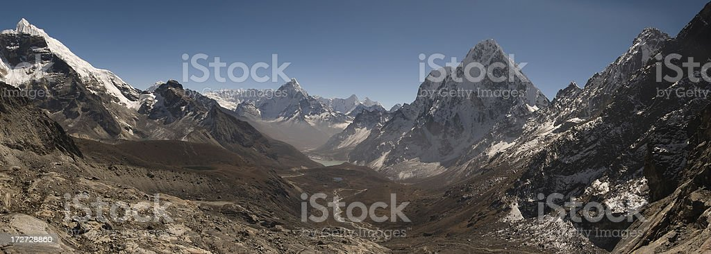 Ama Dablam Panorama royalty-free stock photo