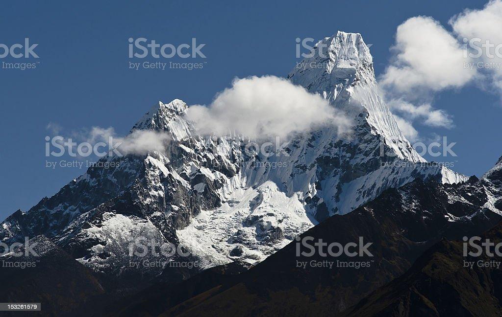 Ama Dablam peak in Himalayas royalty-free stock photo