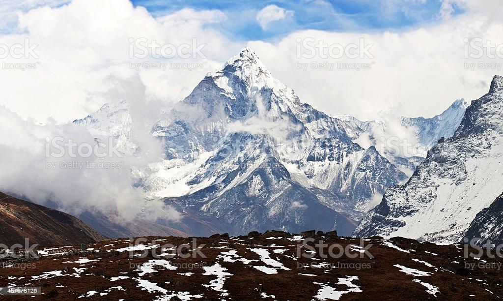 Ama Dablam peak, Nepal stock photo