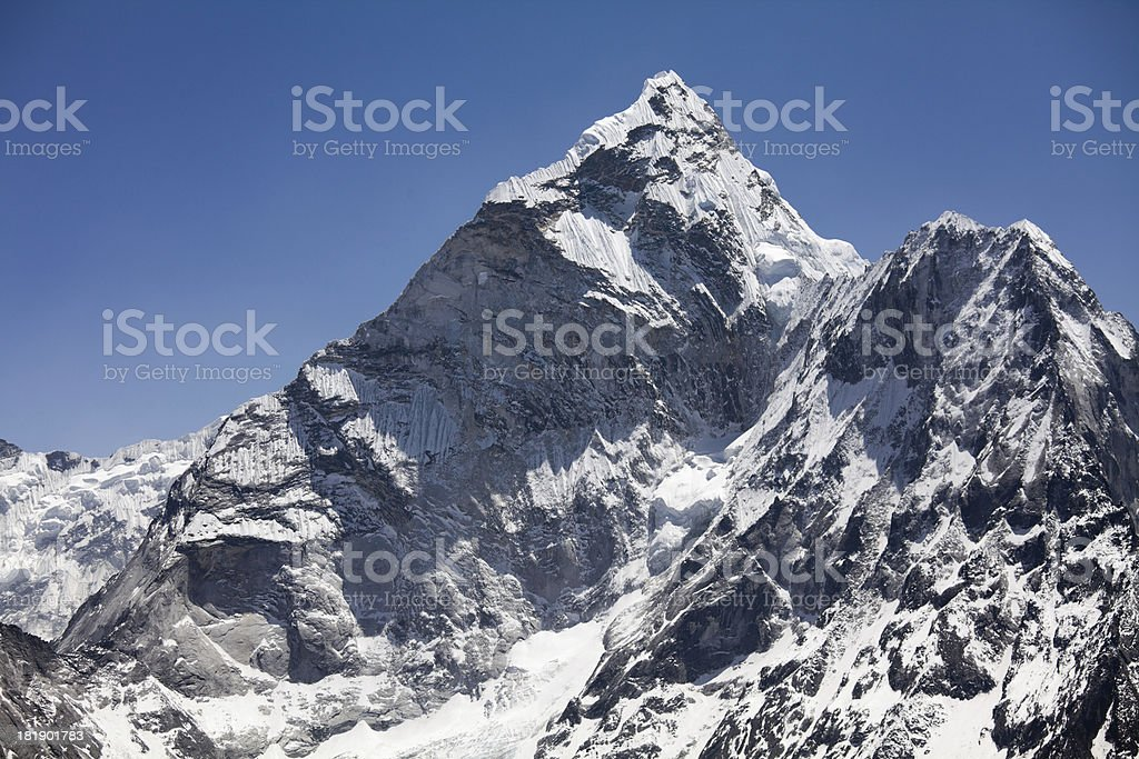 Ama Dablam Summit, Himalayas, Nepal royalty-free stock photo