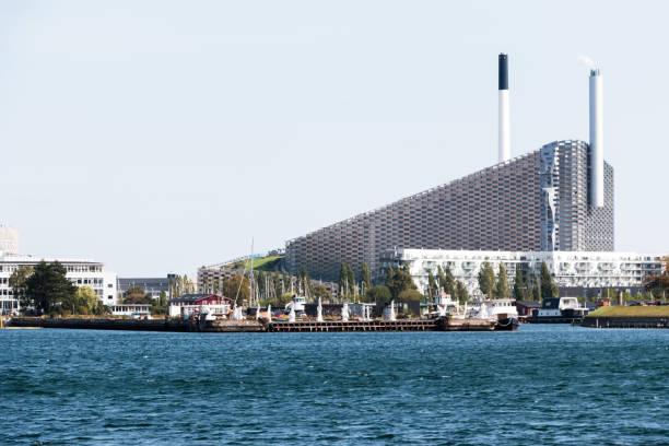 Amager Bakke, combined power and waste energy plant at Amager, Copenhagen, Denmark stock photo