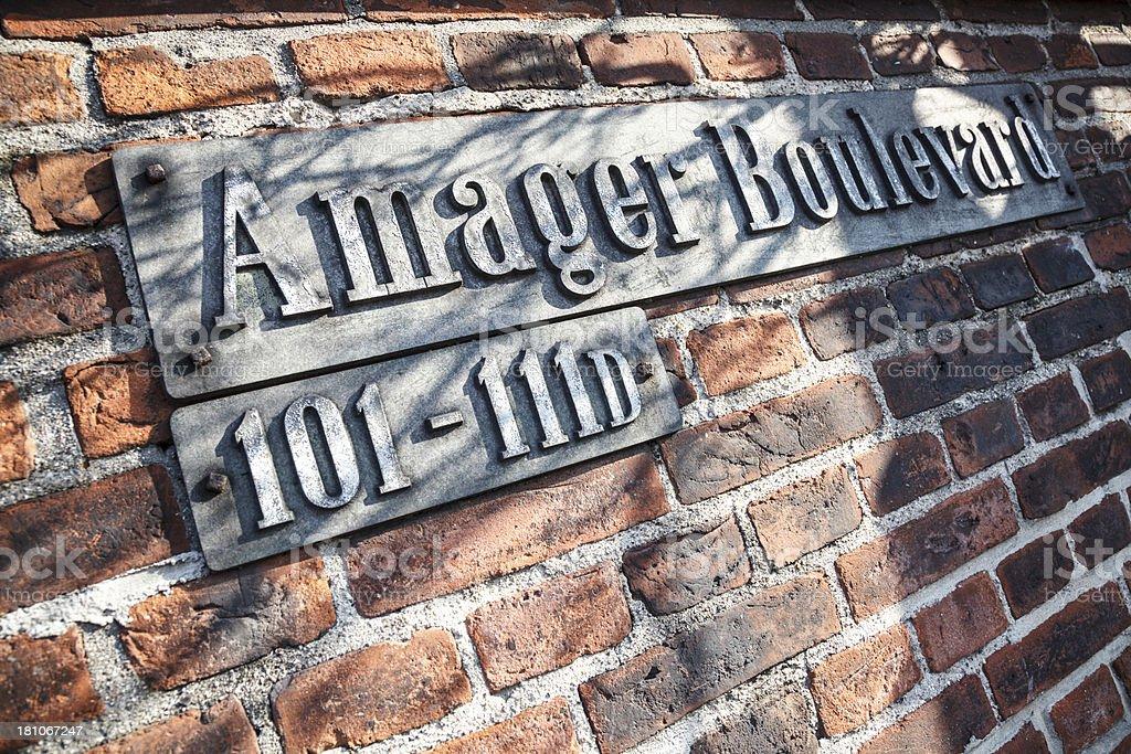 Amager Boulevard royalty-free stock photo
