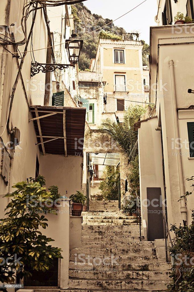 Amalfi backyard lifestyle, Italy. stock photo