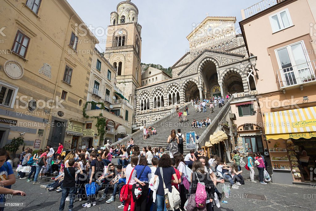 Amalfi Cathedral in Campania, Italy royalty-free stock photo