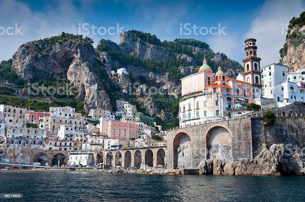 Amalfi Coast from the Sea royalty-free stock photo