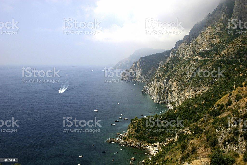 아말피 코스트, 이탈리아 royalty-free 스톡 사진