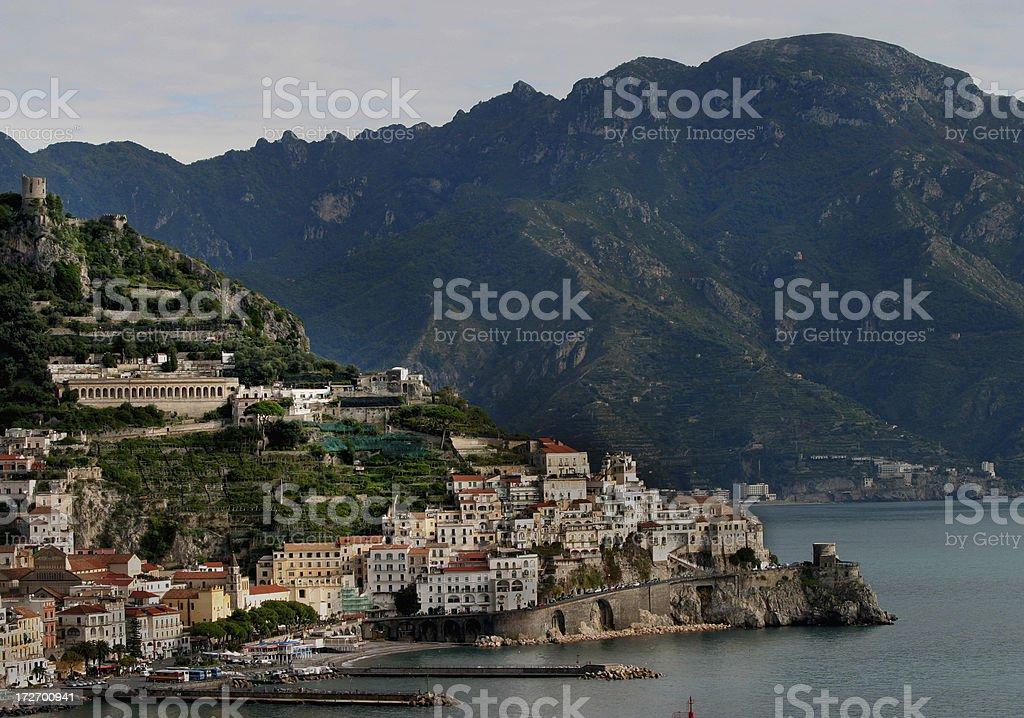 Amalfi Coast  Mediterranean Ocean royalty-free stock photo