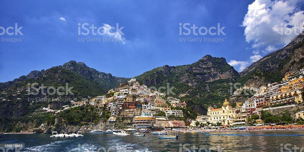 Amalfi coast. Positano royalty-free stock photo