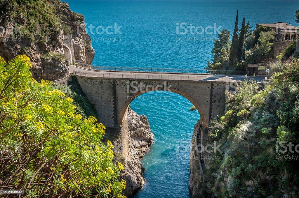Amalfi Coast, Road stock photo
