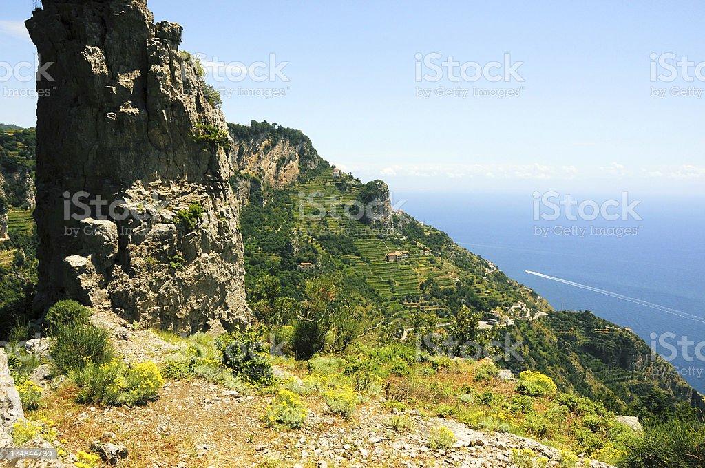 Amalfi Coast Terraces royalty-free stock photo