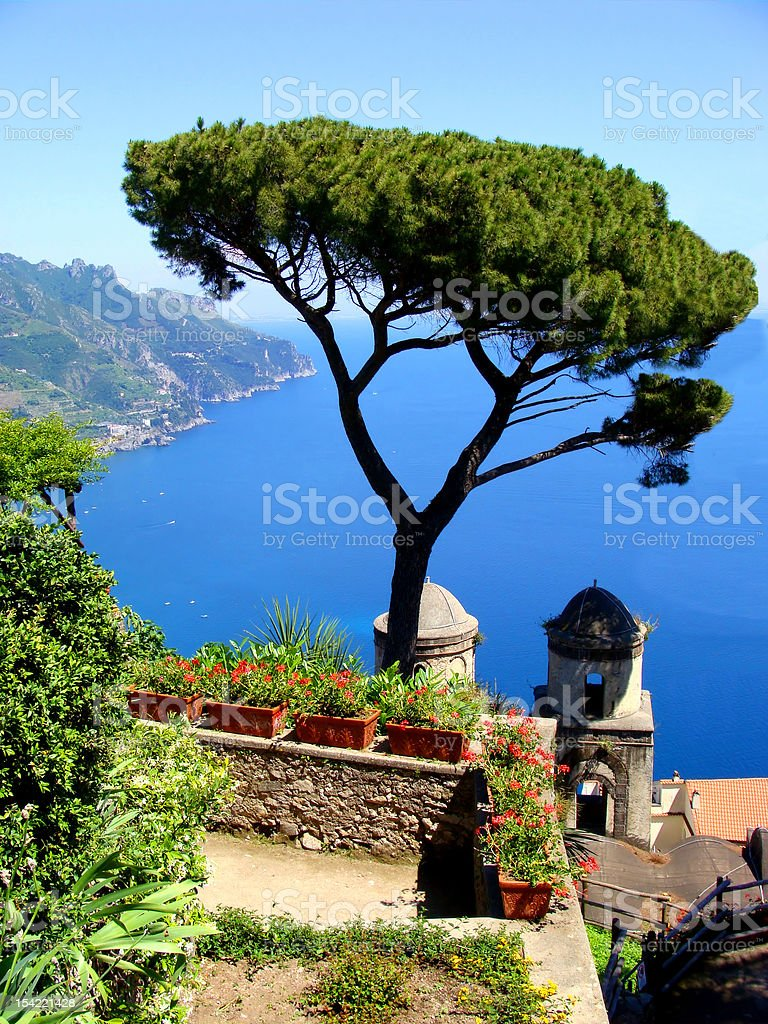 Amalfi Coast view at Ravello, Italy stock photo