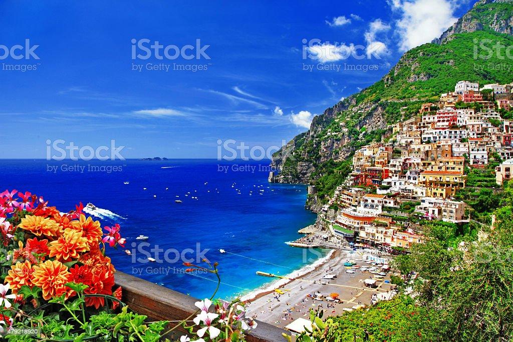 Amalfi Coast,Positano,Italy. stock photo