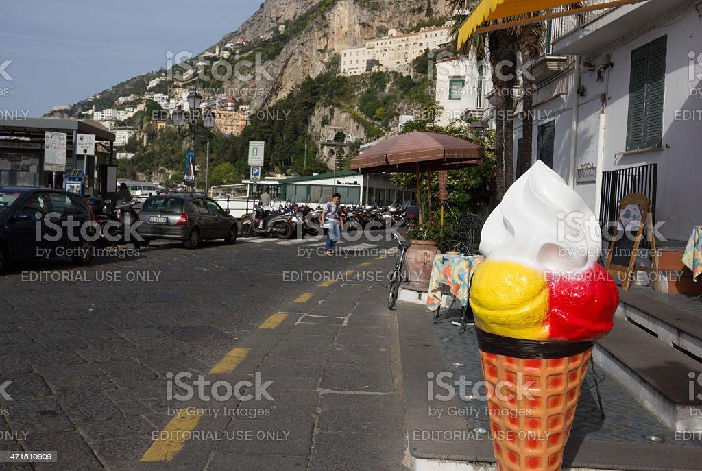 Amalfi in Campania, Italy royalty-free stock photo