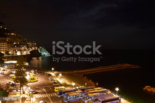 820883024 istock photo Amalfi night view. 180716911