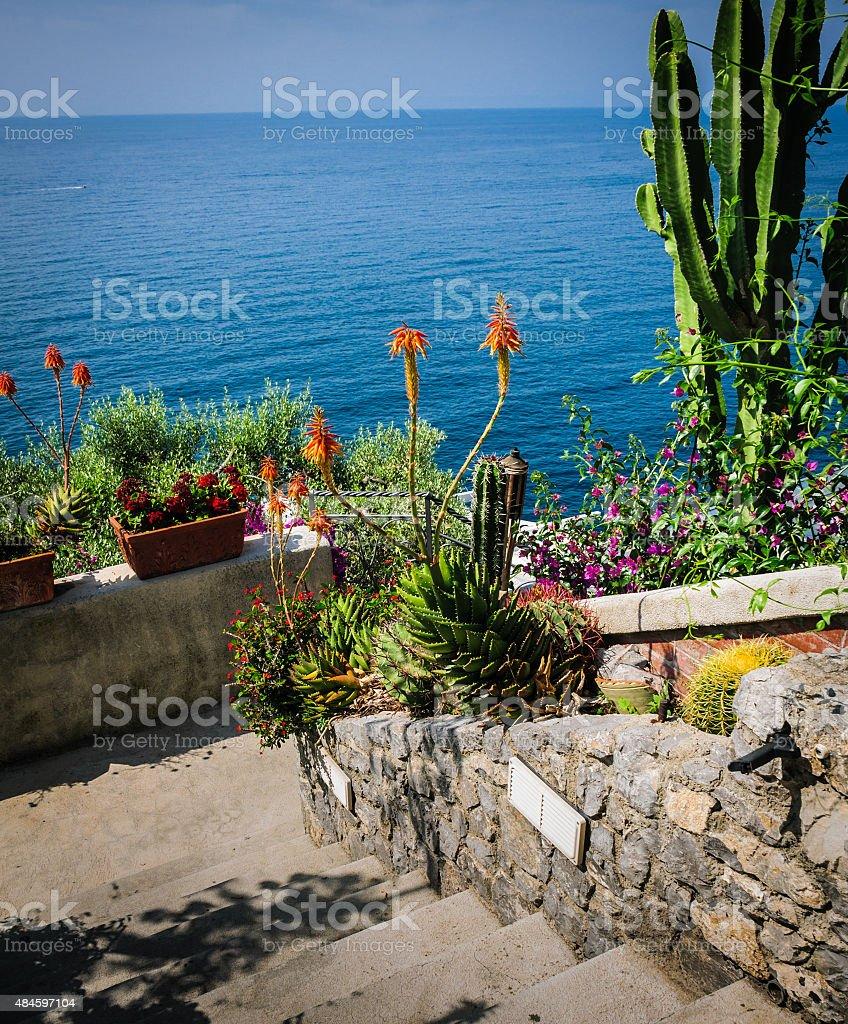 Amalfi Terrace Garden stock photo