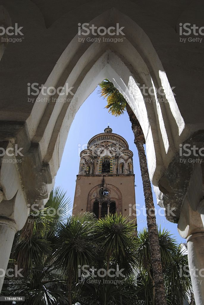 Amalfi - the dome tower royalty-free stock photo