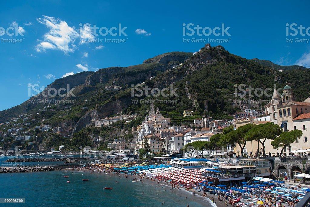 Amalfi village Стоковые фото Стоковая фотография