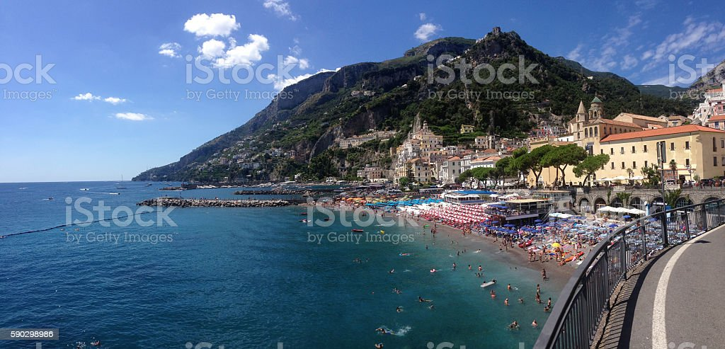 Amalfi village royaltyfri bildbanksbilder