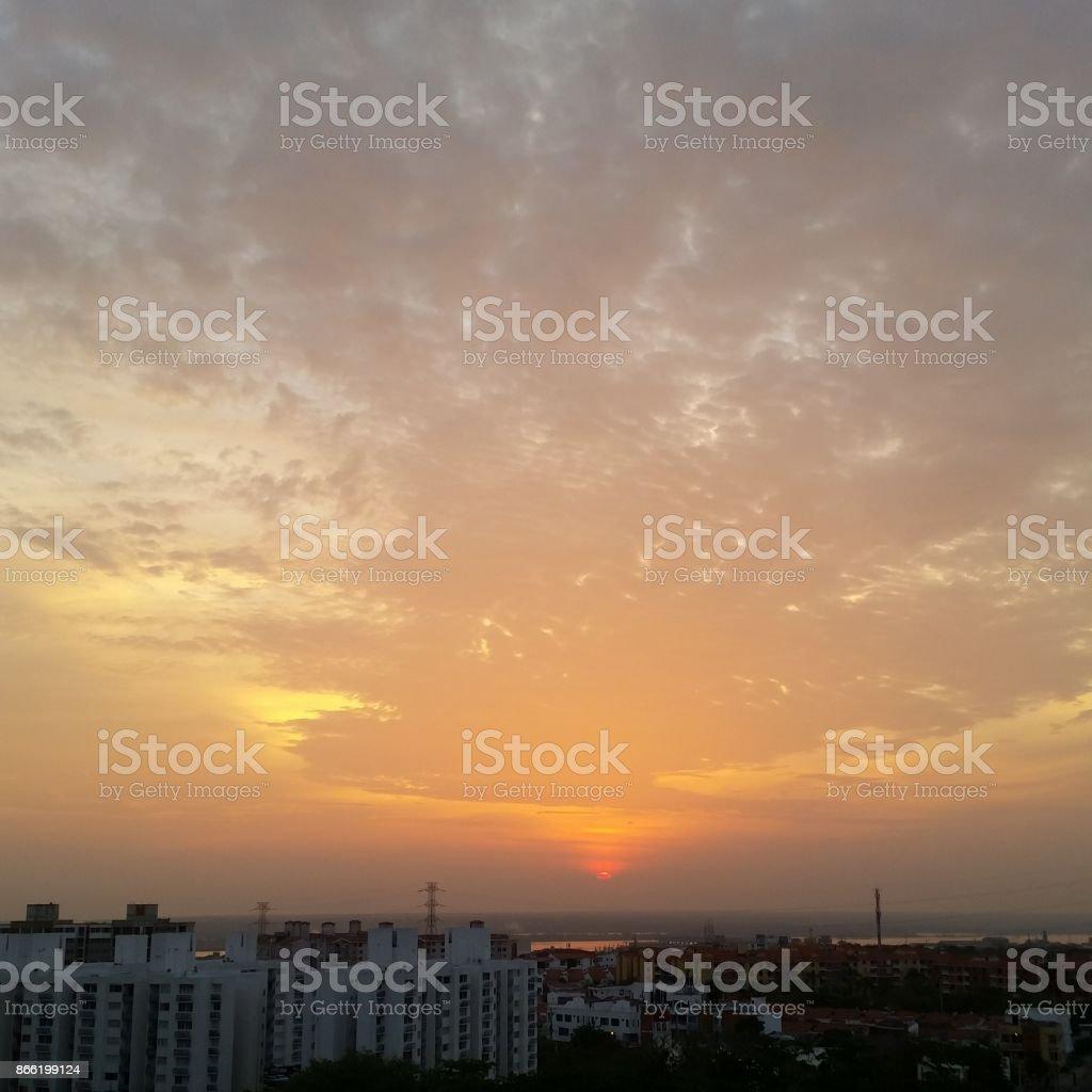 Amanecer 5:55 Barranquilla Colombia - foto de stock