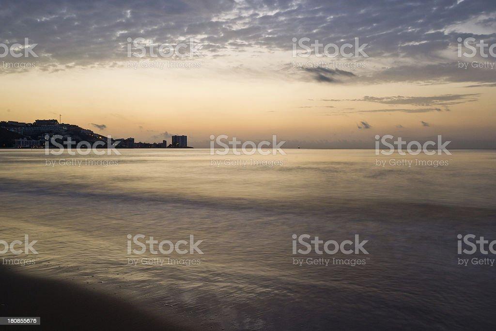Amanecer en el Faro de Cullera royalty-free stock photo