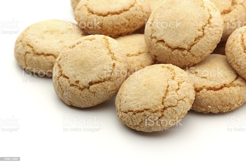 Amaretti Biscuits royalty-free stock photo